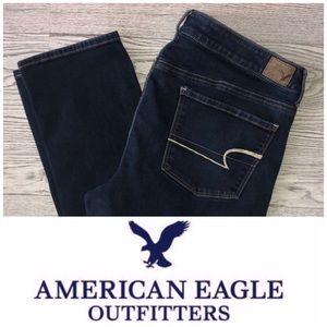 AEO | Dark Wash Super Stretch Skinny Jean (Sz 14)